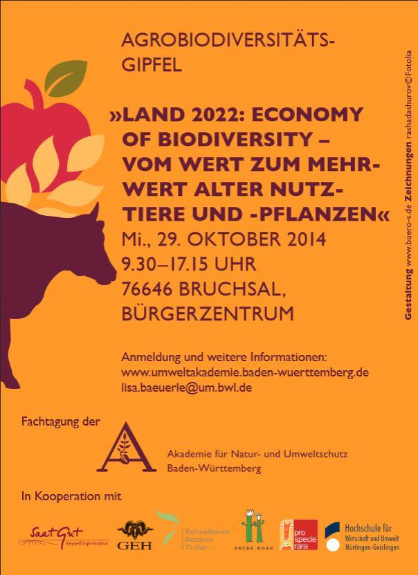 Plakat Agrobiodiversität 2014