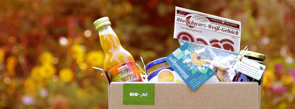 Bio-MV Präsentkiste: Bio-Spezialitäten aus Mecklenburg-Vorpommern