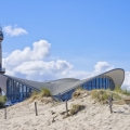 Alter Leuchtturm und Pavillion in Warnemünde