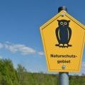 Schild Naturschutz mit Eule