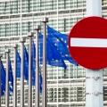Einfahrtverbotenschild vor EU-Kommissionsgebäude